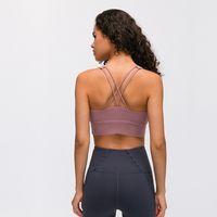 78 sports lu yoga soutien-gorge sous-vêtements de deux épaules Femme rassembleront marque Ventilation Yoga logo Bras