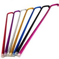 Populaire ventre colorée Canne de danse 93cm adultes PVC Bâton de marche de tuyaux en plastique Béquille pour les femmes de haute qualité