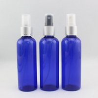 100ml X 50 Blue Round PET Perfume Spray Bottles 100cc Anodiz...