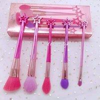 Maquillage marque BROSSE 5 pcs mis titulaire de sirène Nja outils brushs brosse de maquillage brosse Ombre à paupières poudre pinceaux Contour Livraison gratuite