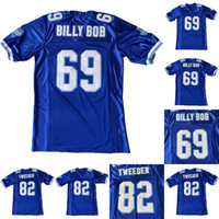 Mens 69 Billy Bob 82 Charlie Tweeder West Canaan Coyotes Varsity Mavi Film 100% Dikişli Futbol Formaları Ücretsiz Kargo