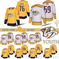 juveniles Nashville Predators Jersey 35 Pekka Rinne 76 P. K. Subban 59 Romano Josi 9 Filip Forsberg 35 Pekka Rinne los jerseys del hockey de los niños