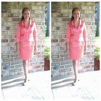 Flickor Pageant Intervju Suit Custom Formal Kids Passar för små tjejer Outfit för PageAnts Passar Junior Billig kort knä längd