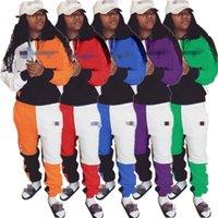 Mujeres diseñador chándal trajes de manga larga con capucha legging  conjunto de 2 piezas sudadera flaca d5bfca51d65e8