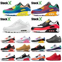 Stock X 90 Mens womens Running Shoes VIOTECH bred triple whi...