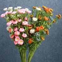 pe رغوة الاصطناعي زهرة أربع طبقات بتلات مقلد ديزي الريف تأثيث المنزل الديكور الزهور جديد وصول 2 3ar l1