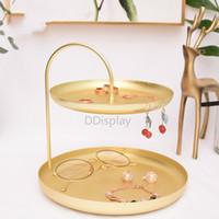 [DDisplay] Golden Metal Standing Jewelry Organizer Rack de almacenamiento de joyas de lujo Estante de exhibición de cosméticos Estante de exhibición de llaves genuinas