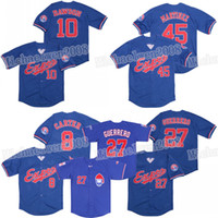 Montreal Expos 8 Gary Carter 10 Andre Dawson Jersey 27 Vladimir Guerrero 45 Pedro Martinez Baseball Jerseys Duplo Stitched