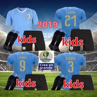 키즈 2019 우루과이 Copa America 축구 유니폼 19 20 우루과이 홈 L.Suarez E.Cavani Shirt D.Godin National Team 청소년 축구 유니폼
