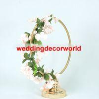 Yeni ucuz satış renk boyalı geçit düğün dekor için düğün koridor süslemeleri ayağı standı sütun