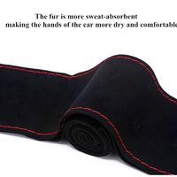 Car Steering Abdeckung DIY Lenkradbezüge Weiche 38cm für die meisten Auto für Nissan 350Z Frontier Hinweis Lenkrad Covwr für Auto