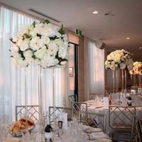 Masa Çiçek Raf Tall Akrilik Çiçek Standı Kristal Düğün Yol Kurşun Temizle Düğün Centerpiece Olay Parti Dekorasyon