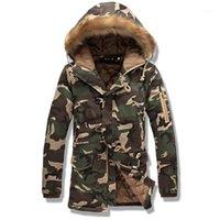 FANTUOSHI 2017 новый камуфляж большой размер теплая верхняя одежда зимняя куртка длинный раздел мужчины ветрозащитный капюшон мужская куртка теплые парки 1