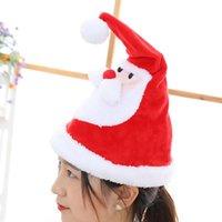 전기 크리스마스 모자 봉제 완구 성장 노래 스윙 산타 클로스 모자 크리스마스 선물 크리스마스 장식 KKA7649