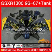 키트 스즈키 GSXR 1300 용 1996 2002 2003 2004 2005 2006 2007 24NO.57 GSXR-1300 블루 옐로우 Hayabusa GSXR1300 96 02 03 04 05 06 07 페어링