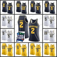 Michigan State Basketball-Trikot 2019 Final Four Herren 2 Poole 22 Robinson 5 Rose Simmons Stitched College Michigan-Basketballtrikot
