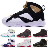 e54d8e438d4 Cheap 7 Outdoor Shoes Men Women 7s VII Purple UNC Bordeaux O..