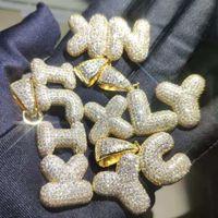 مثلج خارج مخصص رسالة K-T قلادة القلائد بلينغ تشيكوسلوفاكيا سحر فقاعة الهيب هوب المجوهرات قلادة (أعط هدية قلادة)