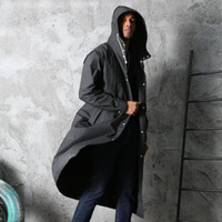 Clear Hooded Long Jacket Rain Coat EVA Adults Thicken Hooded...