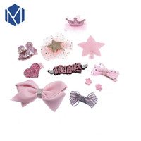 Mism Lace Bow Ribbon Children Hair Pins Crown Hairpins Cute ...