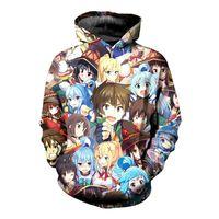 SOSHIRL Anime Konosuba 3D Sweats à capuche Sweats à capuche homme drôle Hipster Pull à capuche unisexe cool Cosplay hiver Hauts Kawaii Sweat