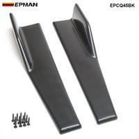 EPMAN автомобиль RACING 2PCS черный автомобиль Боковые юбки Клавишные распиловки Winglet лопата Anti-Царапины Winglet Довольно EPCQ45BK