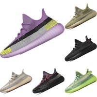 2020 Coconut V2 estiramento Knit Running Shoes Originals Kanye West coco V2 Tampão Foam Jogger Sneaker