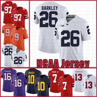 Penn State Nittany Lion 26 Saquon Barkley Football Américain Jersey 10 Tom Brady 97 Nick Bosa taille Jerseys S-XXXL