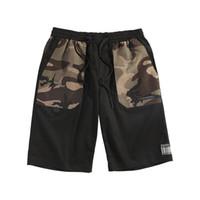 Мужские Ins Горячие повседневные шорты сыпучих камуфляжные штаны Летние дышащий Мужчины Одежда колен шорты