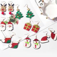 Санта-Клаус Elk снеговика серьги рождественской елки Boots падение мотаться серьги 7styles для женщин девушки ювелирных Рождественские подарки оптовых продаж