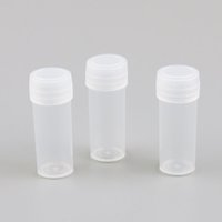 200 x 4g 4ml Plastic PE Test Tubes With White Plug Lab Hard ...