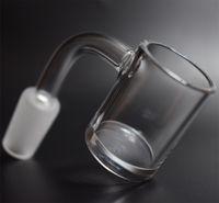 Hohe Qualität XL Flat Top 10mm 14mm 18mm Quarz-Banger-Nagel mit 5mm starken unterem Domeless Quarz-Nagel für Glas Wasserrohr Bongs