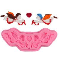 DIY Melek Cupid Kek Kalıp Eros Pişirme Kalıp Kalp Aşk Çikolata Kalıp Doğum Sevgililer Düğün Aşk Ebedi Pişirme Kalıp