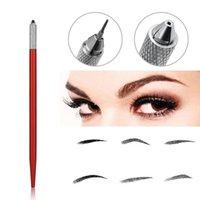 Make-up Augenbrauenstift Dünn für runde Nadeln Tattoo Manuelle Microblading-Nadeln Kosmetische Stickklinge PermanentTattooing Supplies