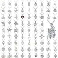 Perle Käfig Anhänger Halskette Liebes Wunsch Natürliche Perle Mit Oyster Perle Mix Design Mode Hohl Medaillon Schlüsselbein Kette Diffusor Halskette