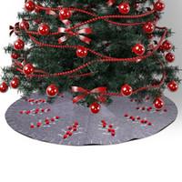 Weihnachtsbaum-Verzierungs-Baum-Rock nicht gesponnener grauer Weihnachtsbaum-Rock-Weihnachtsdekoration-runder Teppich-Boden-Teppich-Partei-Versorgungsmaterialien DBC VT0792