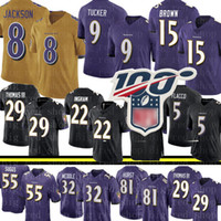 8 Lamar Jackson 9 Justin Tucker Jersey Baltimore Hombres Ravens 15 Marquise Brown Jersey 29 Earl Thomas Terrell Suggs Hurst Mosley Jerseys