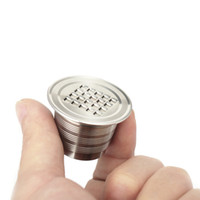 304 Food Grade de aço inoxidável cápsulas de café Nespresso reutilizável cápsulas recarregáveis Pods Compatível com Nestlé Nespresso Series Machines