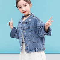 2020 Fashion New Denim Jacket For Girls Kids Casual Loose Po...