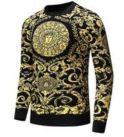 2019 Nova Moda Outono Marca Casual Sweater O-Neck arrefecer lobo listrada Slim Fit Knitting Mens Camisolas e pulôveres Homens Pullover Homens D14