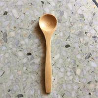 100 Peças Pequeno Colher De Chá De Café De Bambu 13 * 3 cm Geléia De Sal De Açúcar Mostarda Sorvete Colheres De Mel Colheres De Bambu Artesanal Natural Dining Supply