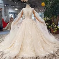 2019 Newest Design Tassel Wedding Dresses With Detachable Ca...