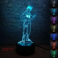 Japanese Naruto Anime Hatake Kakashi Uzumaki 3D Night Light ...