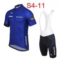 Strava equipe ciclismo mangas curtas jersey bib shorts conjuntos Novo verão respirável corrida bicicleta homens moed 3d gel pad u2171230