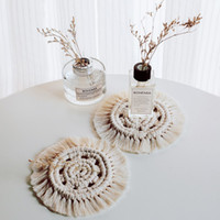 Macrame Cup Pads Handmade Bohemia Cotton Hand Knotted Tablec...