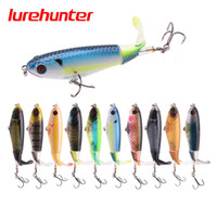 10pcs nuova qualità 9 centimetri 17g Whopper Plopper Topwater Floating Fishing Lure Artificiale rigido Popper esca molle rotante di coda