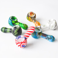 3. 0inches Portable Silicone Pipe Printing Smoking Pipe Alien...