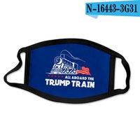 32style Trump Masque 2020 Masques américain Élection Visage Drapeau américain Masque Masques Imprimer Lavable Ice Silk réutilisables anti-poussière couverture GGA3512