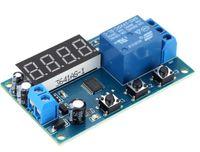 متعددة الوظائف تأخير الوقت تتابع وحدة توقيت التبديل تحكم دورة الموقت DC 12V الصمام عرض ذكي التحكم في الوقت التقوية / تأخير