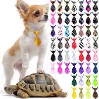 Gravata do colarinho do cão gravata do animal de estimação Laço do animal de estimação Suprimentos sólidos da cor e do teste padrão da série 10,5 cm comprimento XD23604